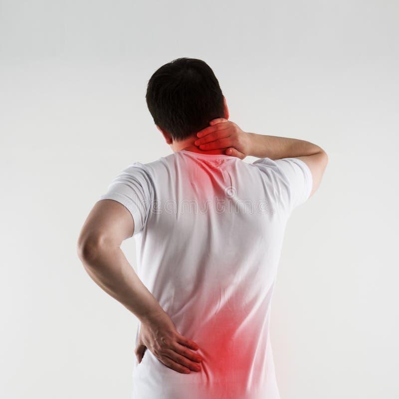 Lesão dorsal fotografia de stock