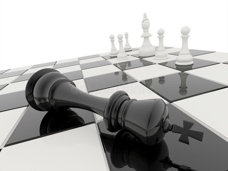 Les échecs 3D rendent illustration de vecteur