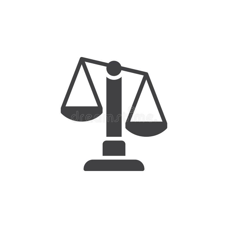 Les échelles, vecteur d'icône de Balance, ont rempli signe plat, pictogramme solide d'isolement sur le blanc illustration stock