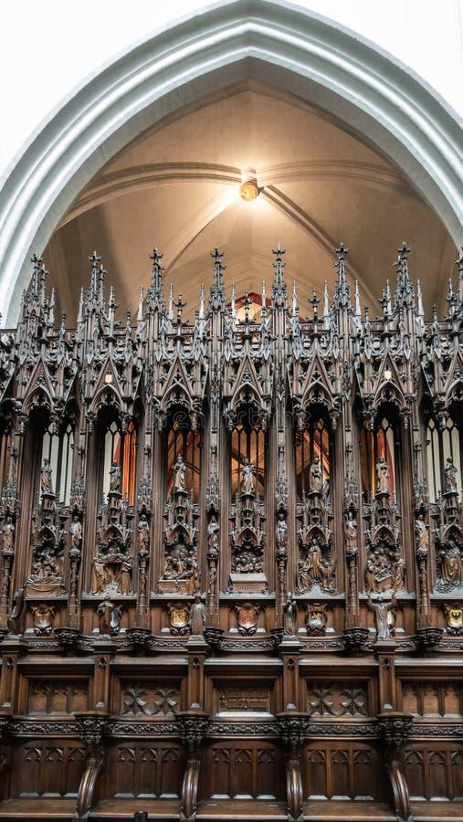 Les écuries à la cathédrale de notre Madame, Anvers Belgique photo stock