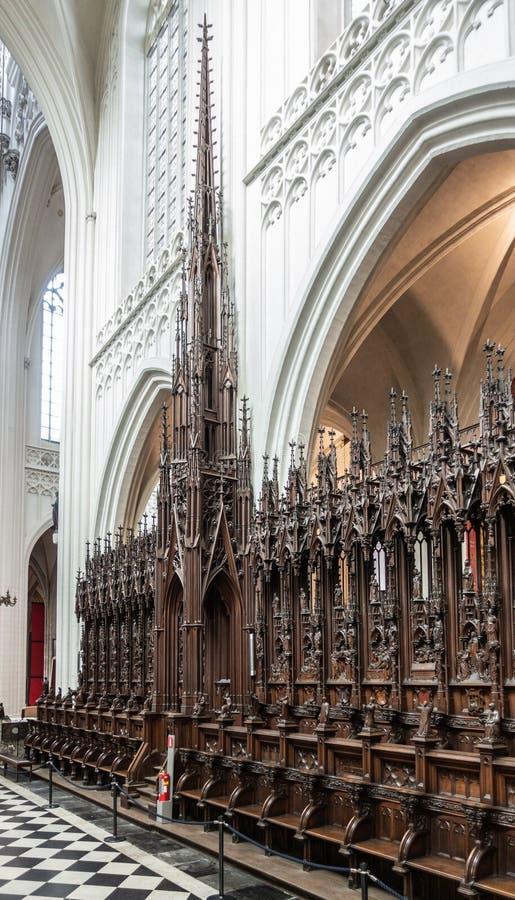 Les écuries à la cathédrale de notre Madame, Anvers Belgique photos stock