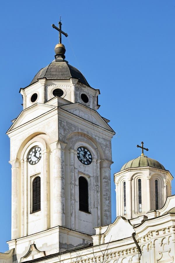 Les églises orthodoxes avec des croix dans Smederevo photo stock