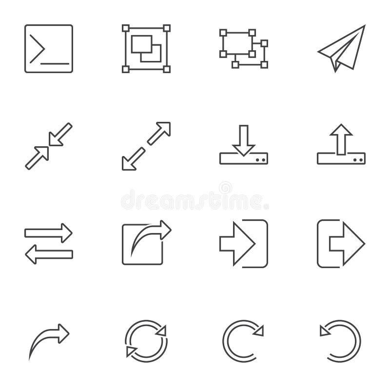 Les éléments de base d'UI rayent l'ensemble d'icônes illustration de vecteur