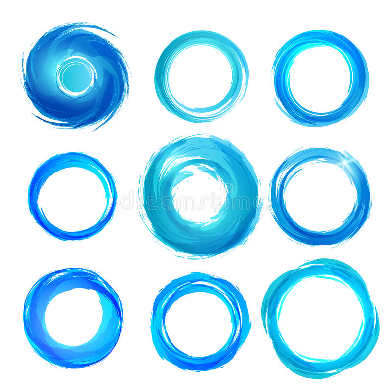 Les éléments De Conception Dans Le Bleu Colore Des Icônes. Ensemble 5 Photos libres de droits