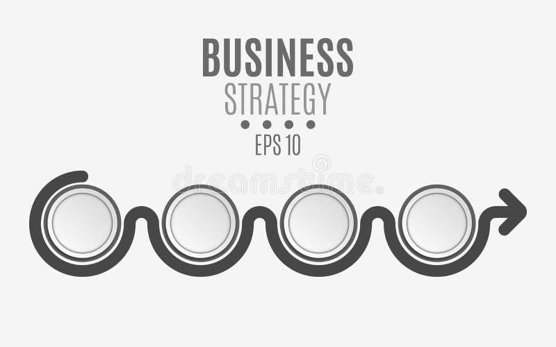 Les éléments de l'infographics sont noirs pour vos projets Cercles de papier vides, bannières pour le texte et symboles Business illustration de vecteur
