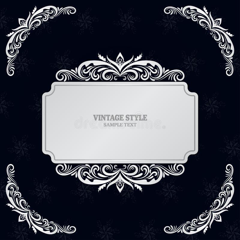 Les éléments et les vues de décorations de vintage dirigent l'illustration eps10 illustration stock