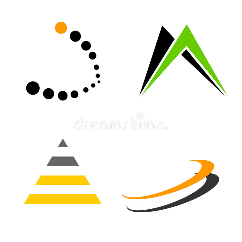 Les éléments/formes de logo se rassemblent illustration stock
