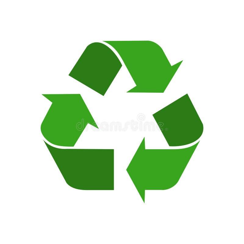 Les éléments réutilisés verdissent le symbole graphique illustration libre de droits