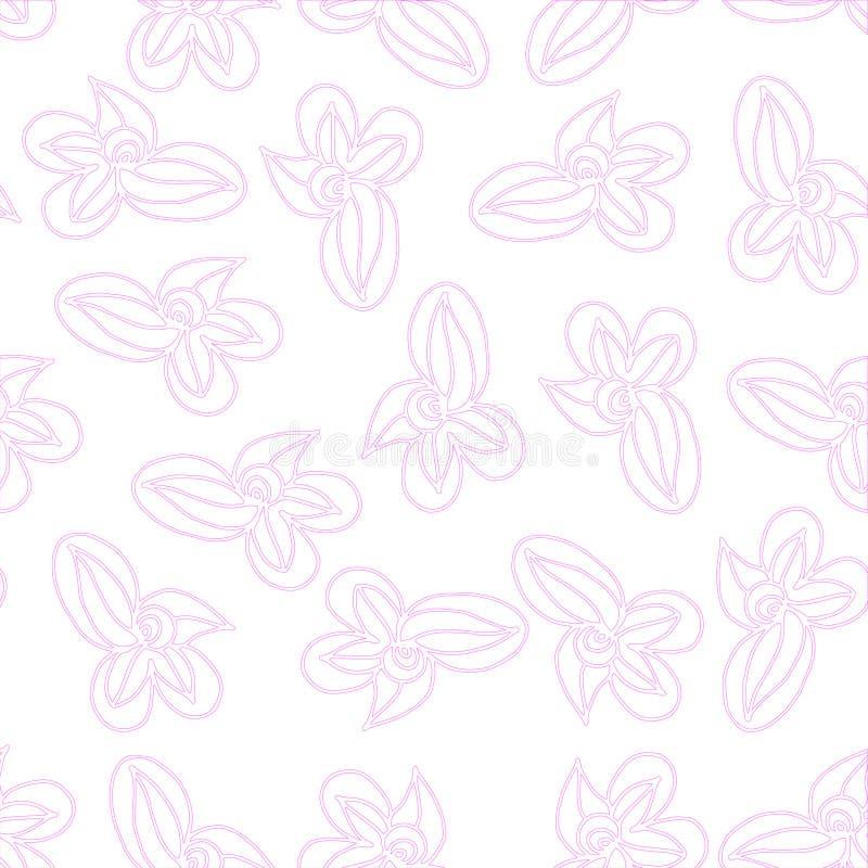 Les éléments roses d'ensemble de vecteur composent le modèle sur un fond sans couture illustration de vecteur