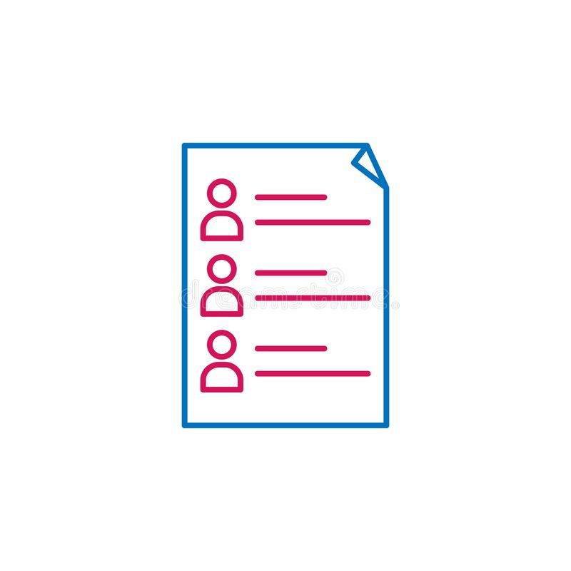 Les élections, candidats décrivent l'icône colorée Peut être employé pour le Web, logo, l'appli mobile, UI, UX illustration de vecteur
