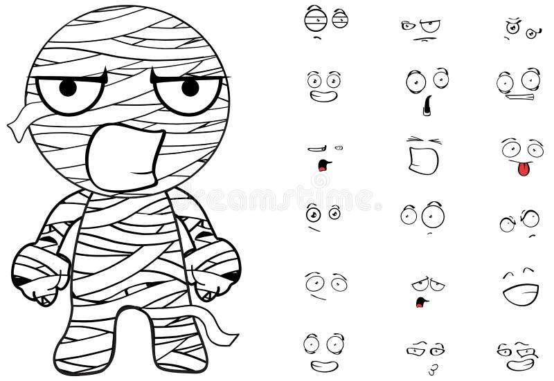 Les émotions de bande dessinée de maman ont placé fâché illustration libre de droits
