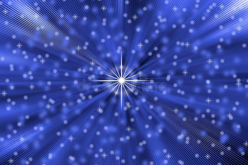 Les étoiles abstraites soufflent à l'arrière-plan bleu illustration libre de droits