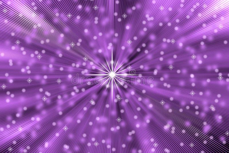 Les étoiles abstraites soufflent à l'arrière-plan pourpre illustration de vecteur