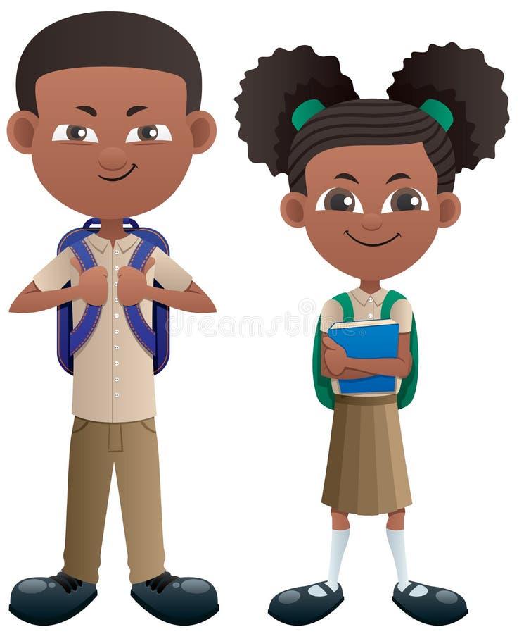 Les étudiants noircissent sur blanc illustration de vecteur