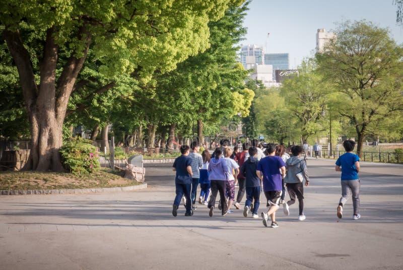 Les étudiants pulsent en parc d'Ueno photographie stock libre de droits