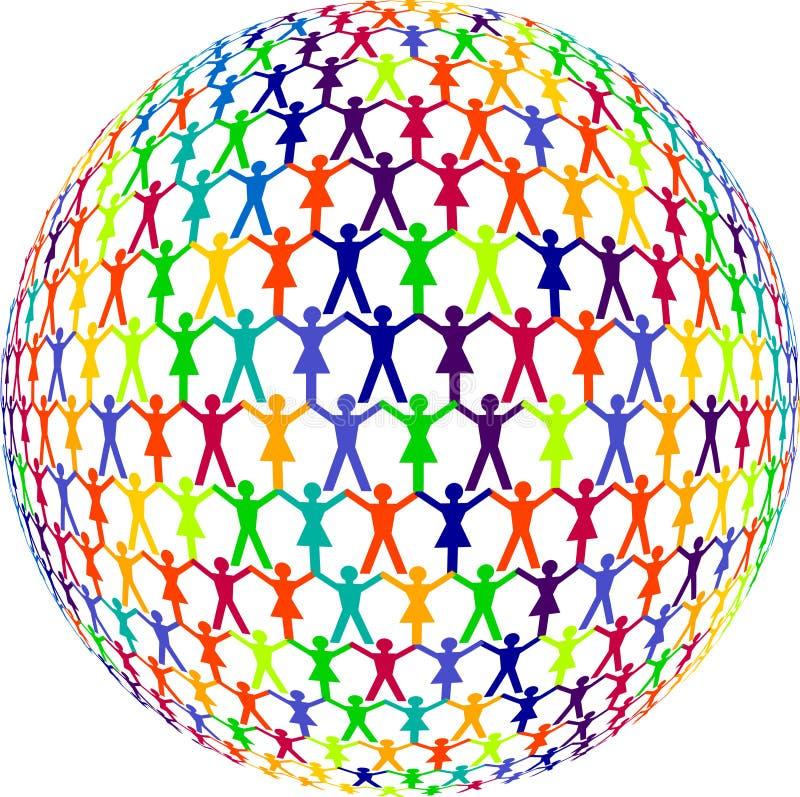 Les êtres humains ont coloré illustration libre de droits