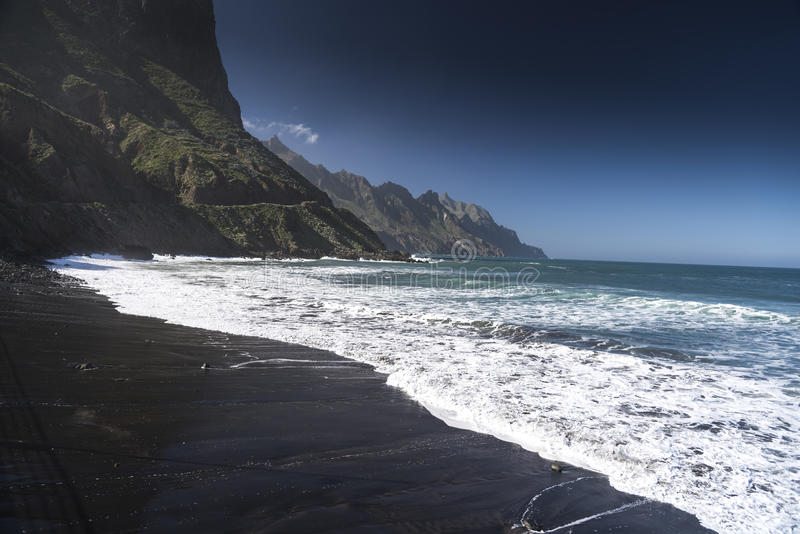 Les Îles Canaries de Playa Taganana Ténérife image libre de droits