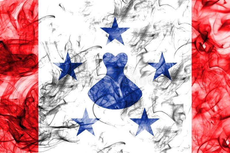 Les îles d'austral fument le drapeau, îles en français la Polynésie française illustration de vecteur