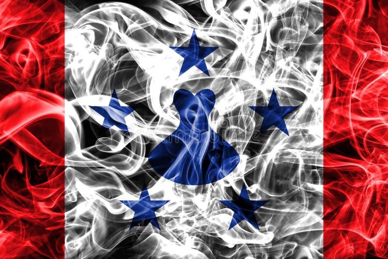 Les îles d'austral fument le drapeau, îles en français la Polynésie française illustration stock