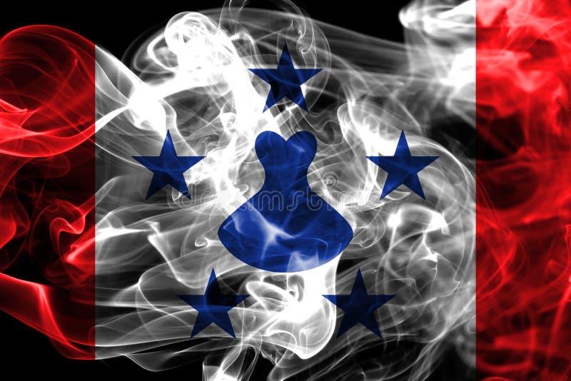 Les îles d'austral fument le drapeau, îles en français la Polynésie française illustration libre de droits