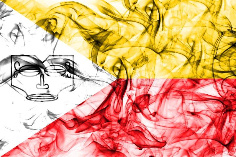 Les îles de Marquesas fument le drapeau, îles en français la Polynésie française illustration de vecteur