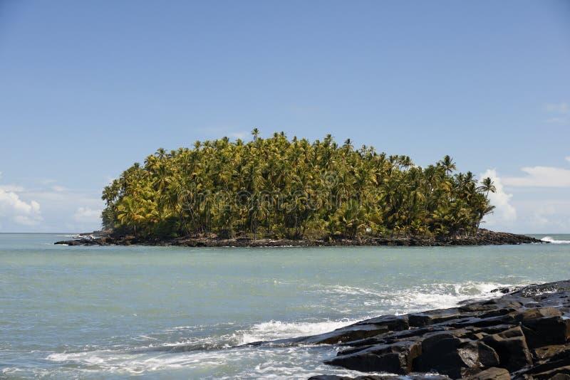 Les îles de salut, Guyane française image stock