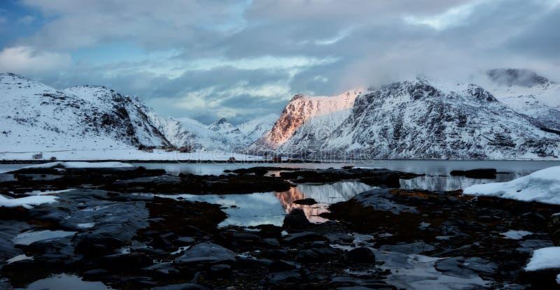 Les îles Norvège de Lofoten images stock