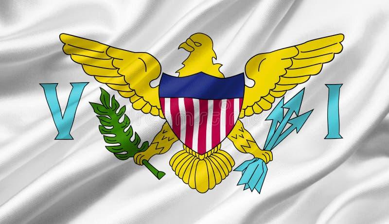 Les Îles Vierges américaines marquent l'ondulation avec le vent, l'illus 3D illustration de vecteur