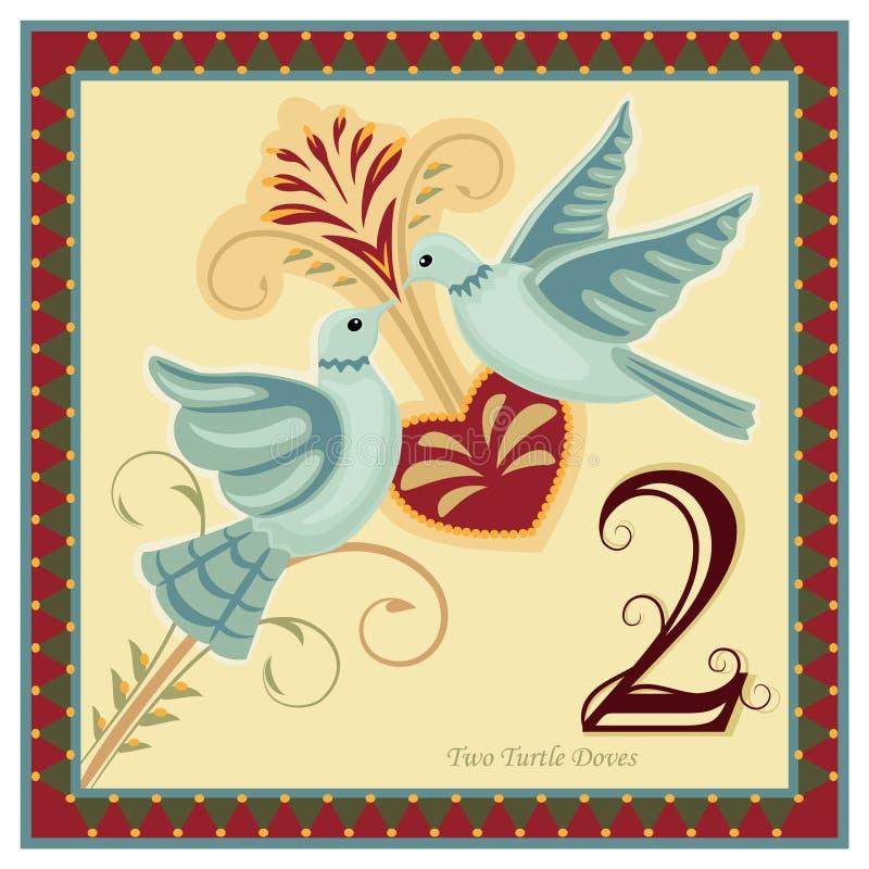 Les 12 jours de Noël illustration stock