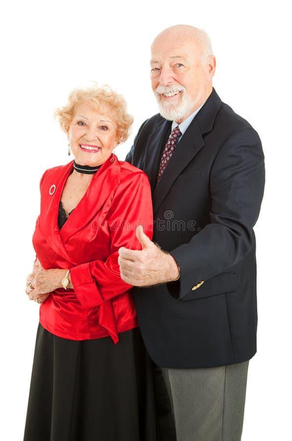 les aînés de danse manie maladroitement vers le haut photo stock