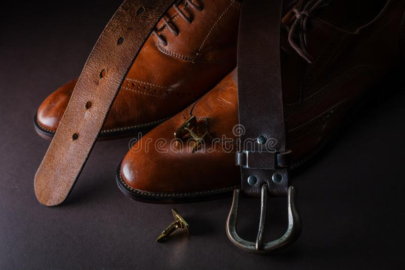Les accessoires des hommes photographie stock libre de droits