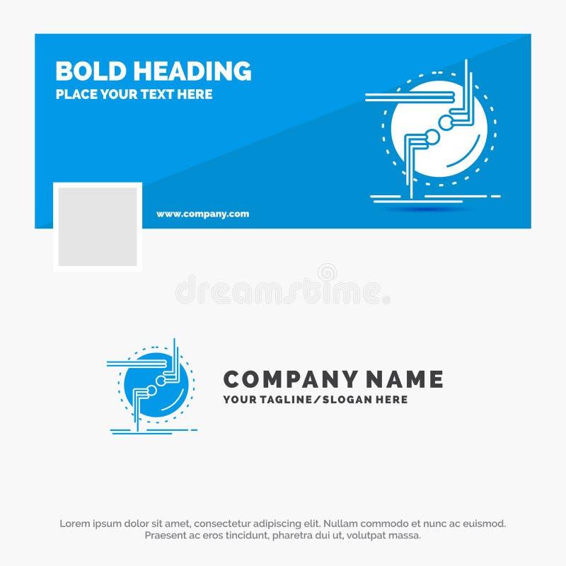 Les affaires bleues Logo Template pour la chaîne, se relient, connexion, lien, fil Conception de banni?re de chronologie de Faceb illustration libre de droits