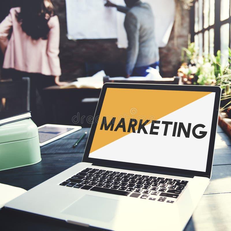 Les affaires de plan de marketing de marque commencent le concept images stock