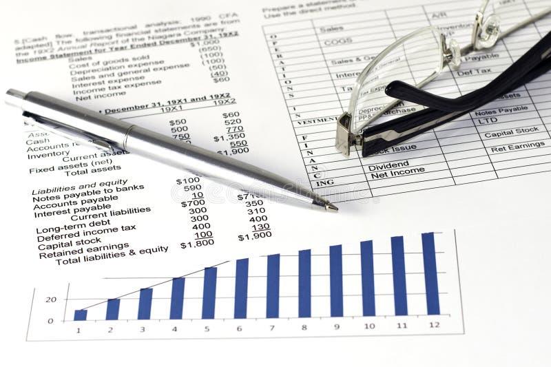 Les affaires financières analysent photo stock
