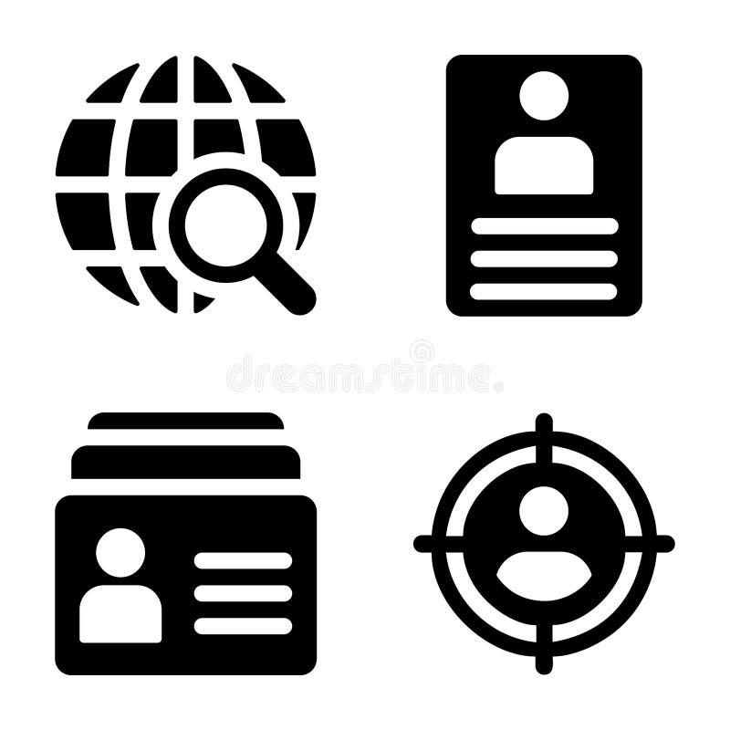 Les affaires ont rempli icônes illustration stock