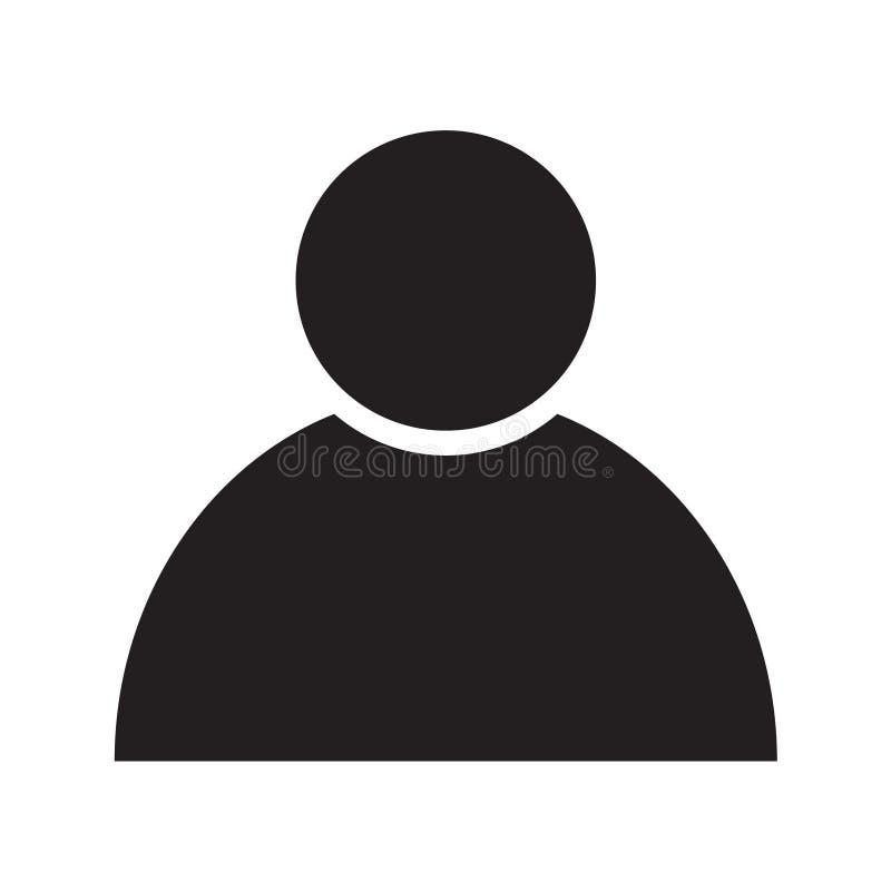 Les affaires plates de personne ont isolé la conception d'illustration de symbole d'icône illustration libre de droits