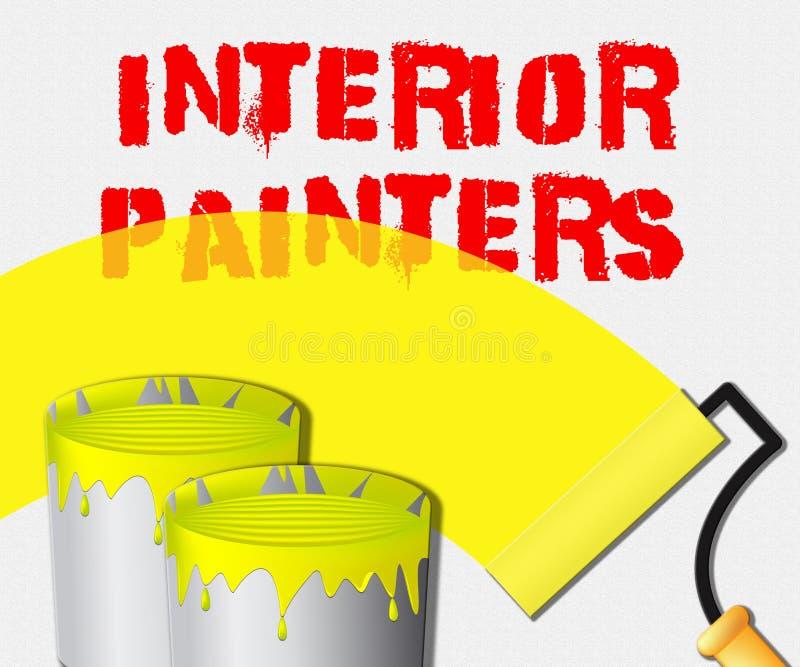 Les affichages intérieurs de peintres autoguident l'illustration 3d de peinture illustration stock