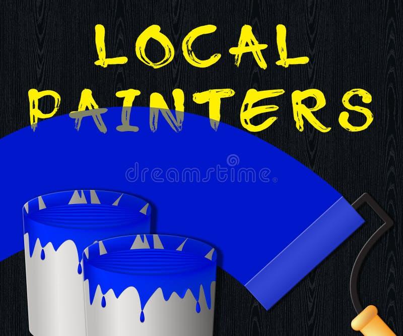 Les affichages locaux de peintres autoguident l'illustration 3d de peinture illustration de vecteur