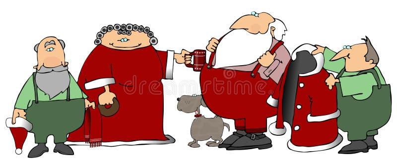 Les aides de Santa illustration de vecteur