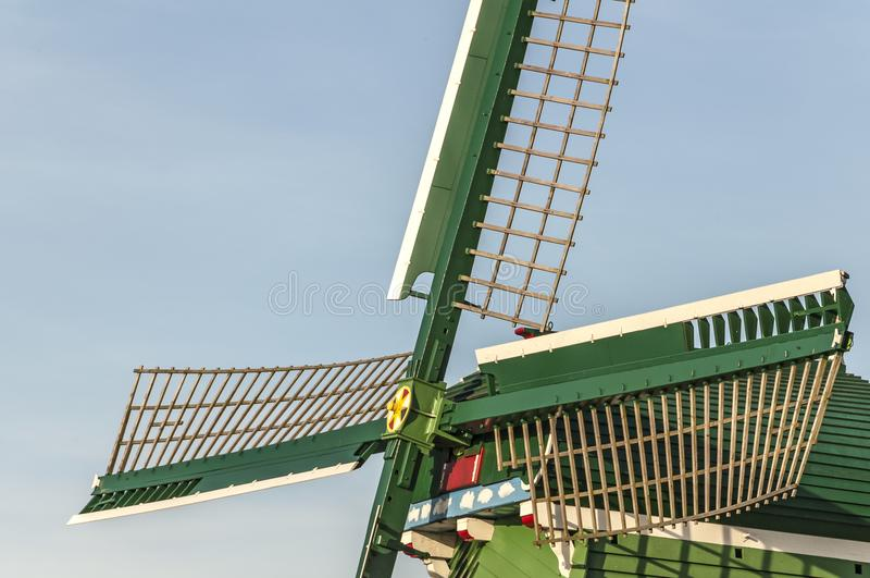 Les ailes d'un moulin image stock