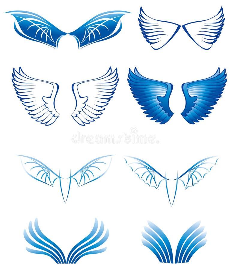 Les ailes ont placé illustration stock