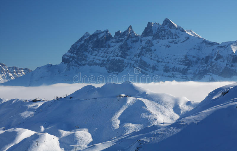 Les Alpes français photographie stock