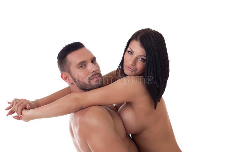 Download Les Amants Embrassent Passionément, D'isolement Sur Le Blanc Photo stock - Image du type, nudité: 45363884