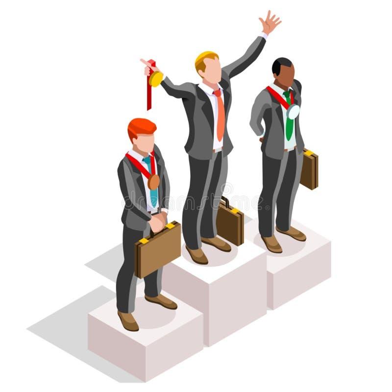 Les ambitions ambitieuses de carrière du changement 04 d'affaires dirigent le concept illustration stock