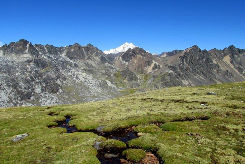 Les Andes, Cordillère vraie, Bolivie images stock