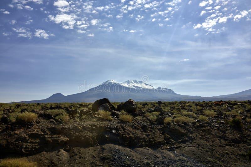 Les Andes du désert d'Atacama image stock