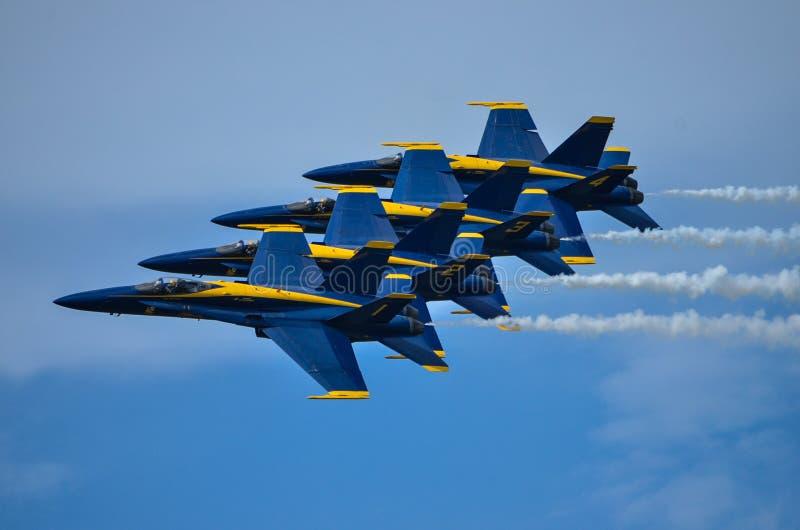 Les anges bleus photo libre de droits