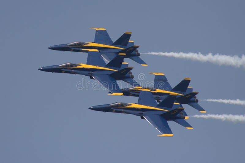 Les anges bleus image libre de droits