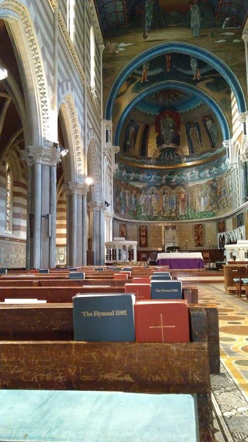 Les anges de saints de religion de basilique sculptent l'histoire, Rome Latium, Italie 2016 photographie stock libre de droits