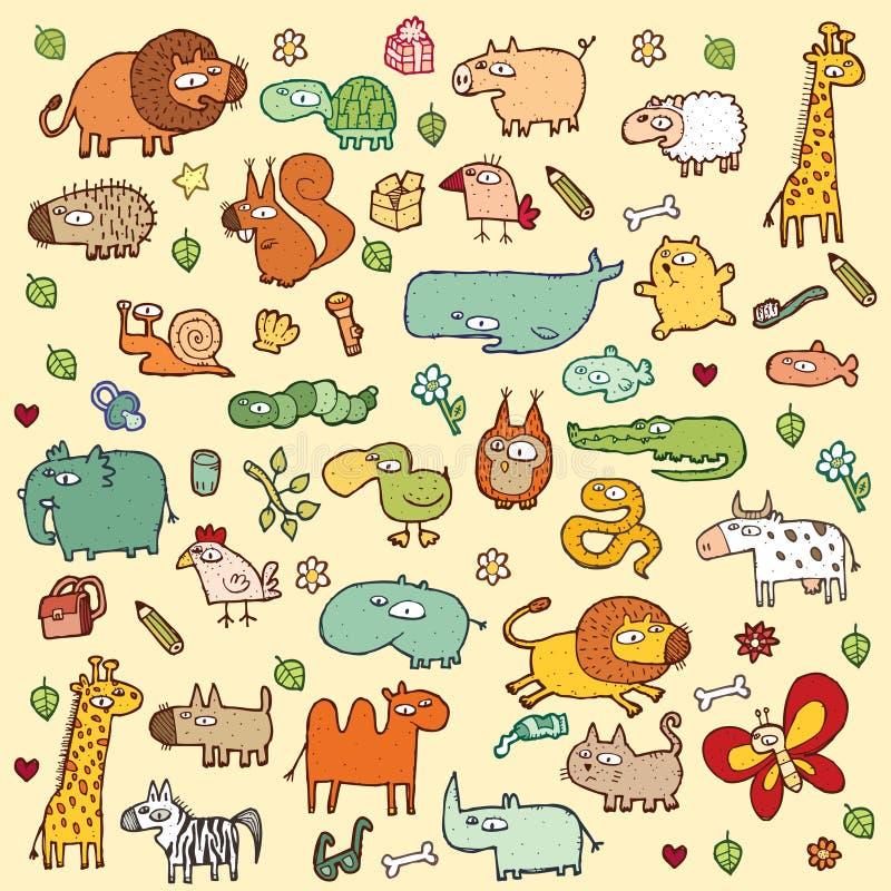 Les animaux mignons ONT PLACÉ le XL illustration libre de droits